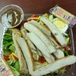 To go chicken salad. Enough for 2.