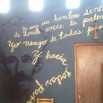 José Martí y un párrafo de Guantanamera.