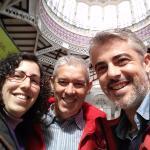 Aquí estamos con Pablo en el Mercado Central de Valencia, tras la degustación de horchata y fart
