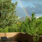 Rainbow over Santa Fe as seen from Casa Cuma B&B