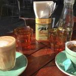 Breakfast coffee on the waterfront