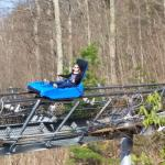 The alpine coaster is a fun and fast way to cruise down the mountain