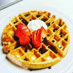 Come try cafe Frederica delicious waffles on Sunday