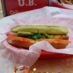 Chicago Hot Dog Pickle,Relish,Tomato,Mustard,peppers (no onion)