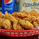 Chicken Strips in a basket.