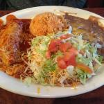 enchilada and torta platter.