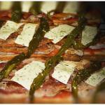 Torrada de bacon con pimientos