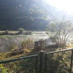 Breakfast time -mist evaporating from the river water surface