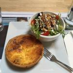 Delicious quiche Lorraine with a fresh side salad