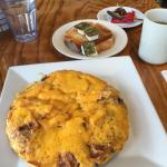 Breakfast: Frittata and herbal tea