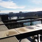 Terrace of top-roof restaurant