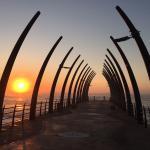 Umhlanga promenade pier at sunrise