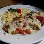 Special - Tuscany Chicken Schnitzel with spatzle