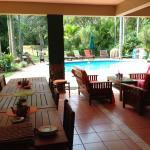 Breakfast terrace and pool