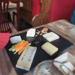 Delicious cheeses to sample.