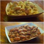 Macaroni salad and pinto beans