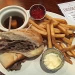 French-dip sandwich - incredibly delicious!