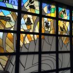 Stained glass in lobby