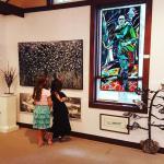 Young appreciators of art at Perivale Gallery
