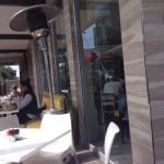 The outside seating