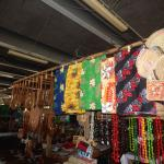 beautiful colourful lavalavas (sarongs)...
