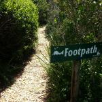 Private footpath on the property