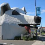 Corrugated iron dog (Information centre and gift shop)