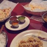 Chicken Korma, garlic Naan