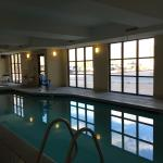 Indoor heated pool and hot tub at Hampton Inn Salida