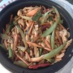 Szechaun Chicken (in a to-go container).