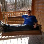 McKinley Cabin, front porch