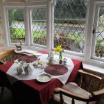 Tea and cakes in the lovely dining room on arrival
