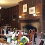 Panelled dining room.