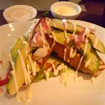 Avocado toast with Peekytoe crab and lime aioli.
