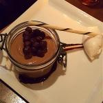 Chocolate pot ou creme with whipped cream.