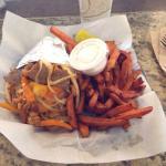 Xtreme Gyro and Sweet Potato Fries