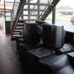 dump of old TVs