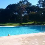 Belle piscine, vide car eau fraîche