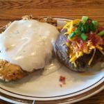 Chicken Fried Steak and Baked Potato