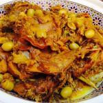 Tajine de lapin au citron et olives