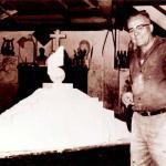 Fritz Alt em seu atelier - década de 1960.