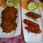 onion bhaji y kebab