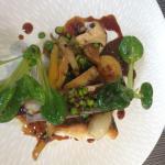 Turbot aux pleurotes et petits légumes
