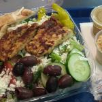 Greek salad with grilled chicken, can't go wrong