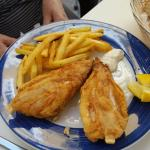 fish and chips from the Menu del Dia