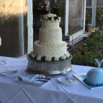 Nantucket basket weave cake and Whale grooms cake