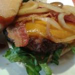 Up close Southern Charm Burger.
