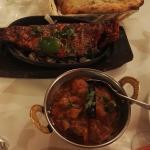 Tandoori fish and raja hot chicken