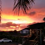 Beautiful sunrise this morning at the Bounty Motel, Paihia
