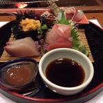 the sashimi course of our fine dinner